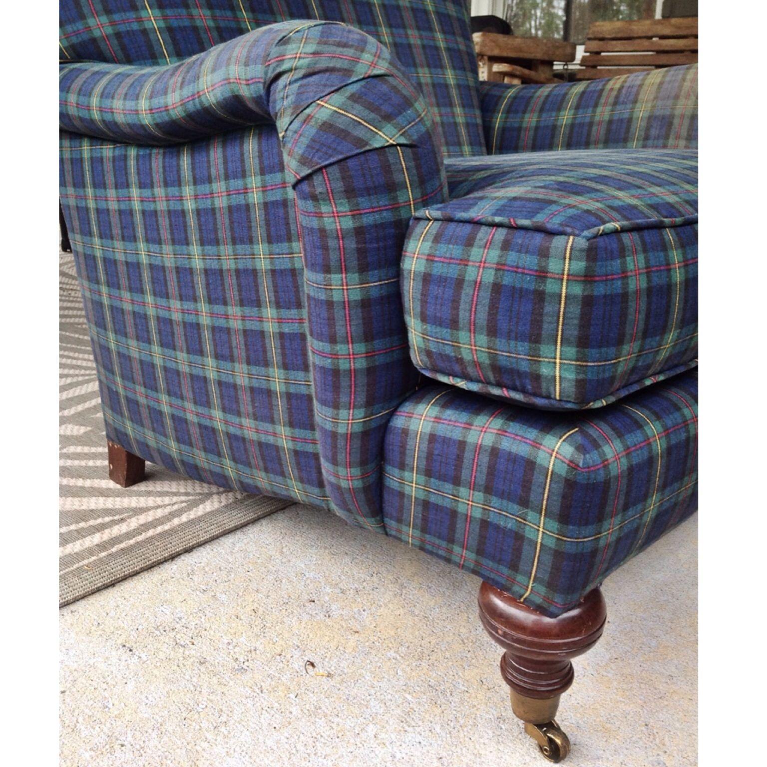 Best Blackwatch Tartan Plaid Club Chair Plaid Decor Plaid 640 x 480