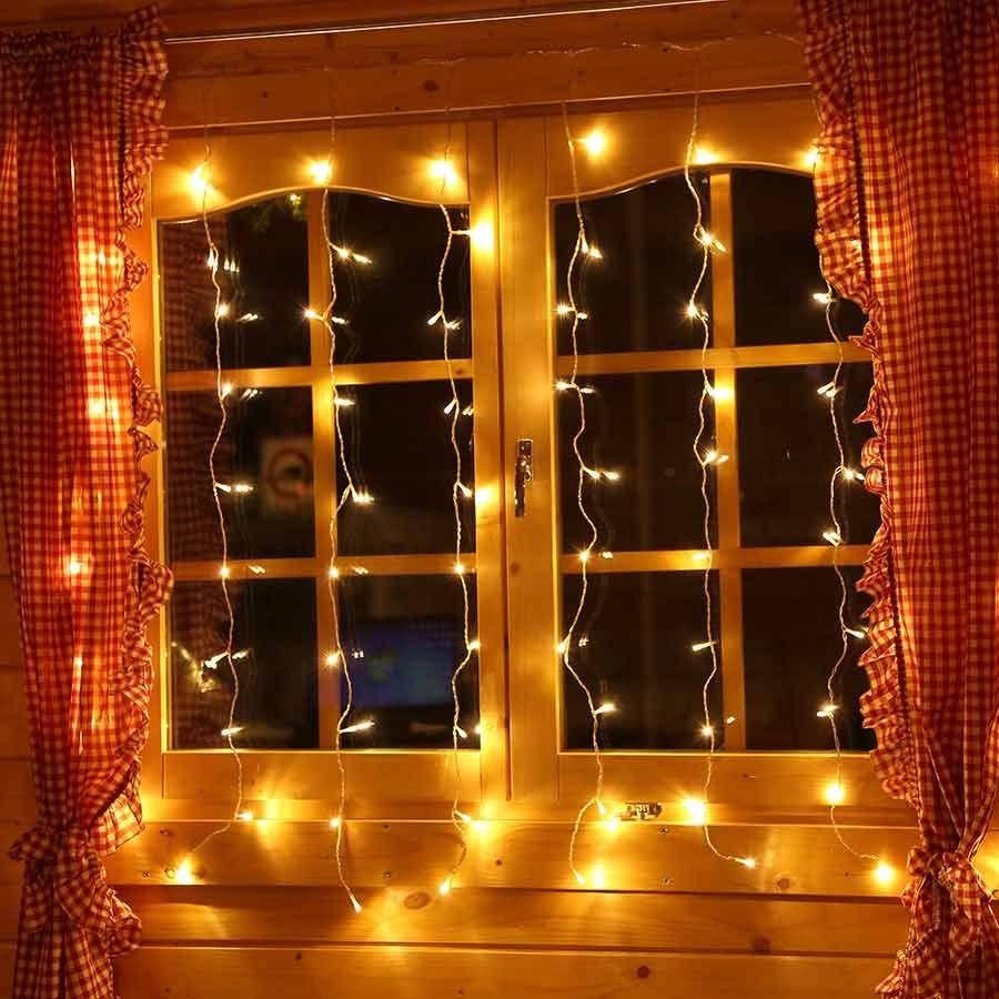 LED #Lichtervorhang 1,3x1,3 m mit 80 LED für die ...