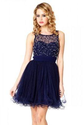 Quiz Navy Chiffon Pearl And Diamante Prom Dress Prom Dress Quiz Evening Dresses Chiffon Prom Dress