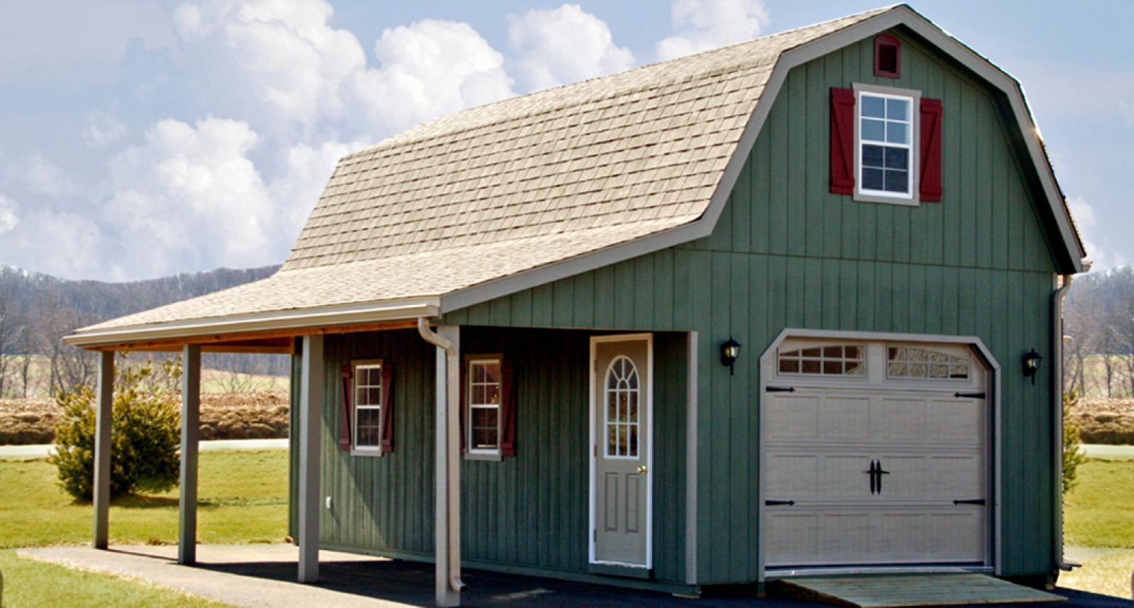 1 Car 2 Story Garage Woodworking In 2018 Pinterest Garage
