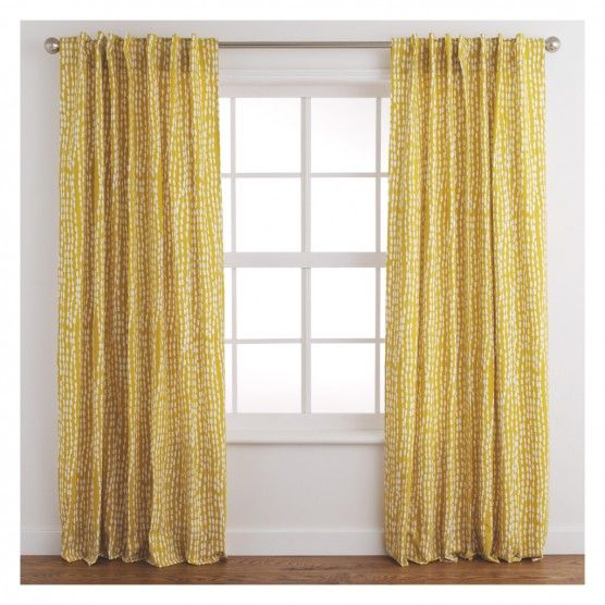 Trene Pair Of Mustard Yellow Patterned Curtains 145 X 280cm Mustard Yellow Curtains Curtain Patterns Yellow Curtains