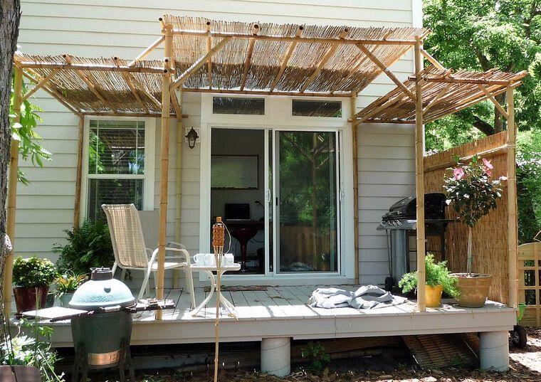 Creative Ideas With Bamboo Outdoor Pergola Patio Shade Diy Pergola