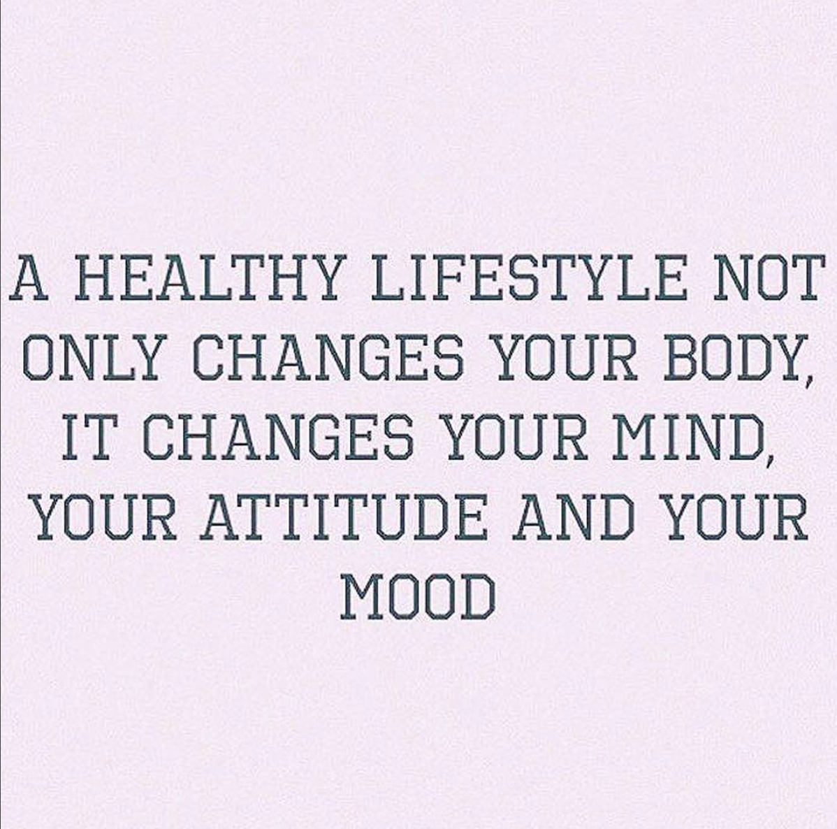 a healthy lifestyle changes everything type a