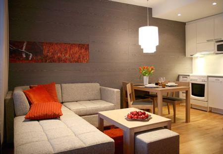 Imbiancare cucina, soggiorno ambiente unico con arredo moderno ...
