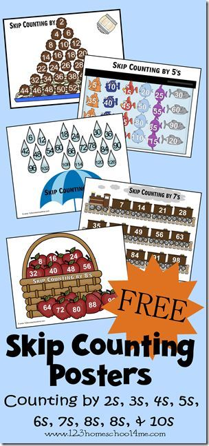 FREE Skip Counting Posters 2s-10s | Ultimate Homeschool Board ...
