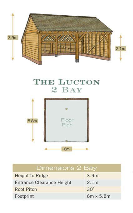 Radnor Oak The Lucton Double Garage Enclosed Garage Floor Plan Oak Building Dimensions Garage Floor Plans Garage Design Carport Designs