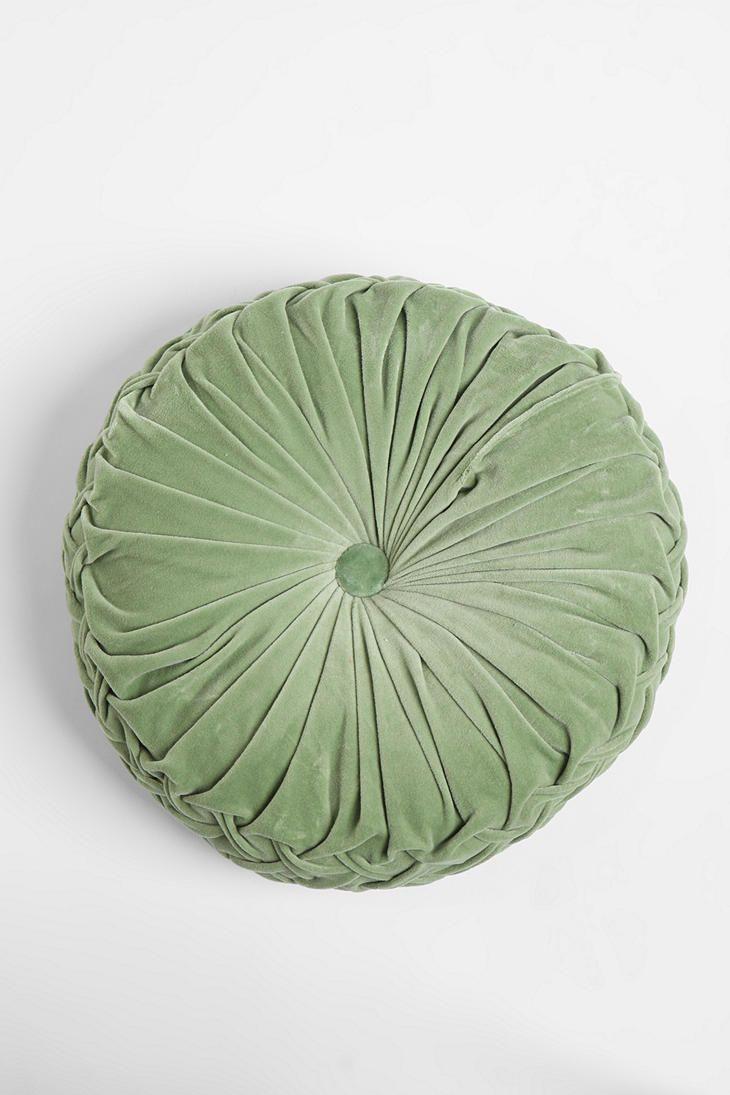 round pintuck pillow pillows velvet
