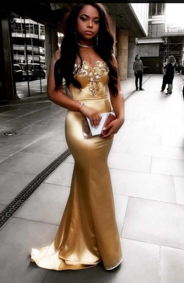 elegante gold abendkleider lang günstig meerjungfrau