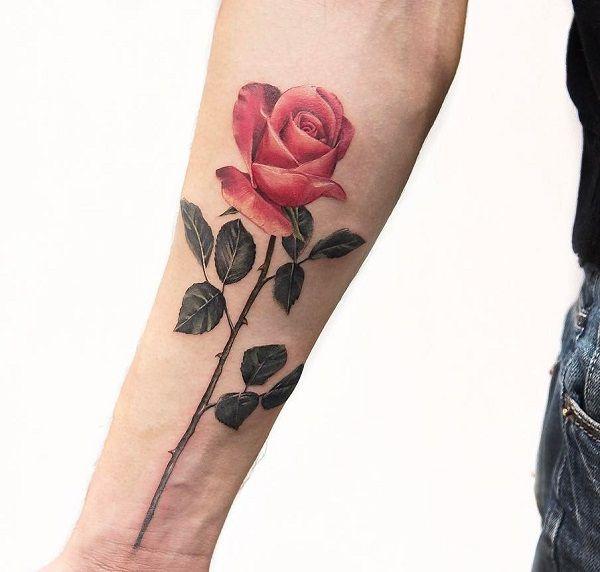 120+ Meaningful Rose Tattoo Designs | Forearm tattoos, Rose tattoos ...