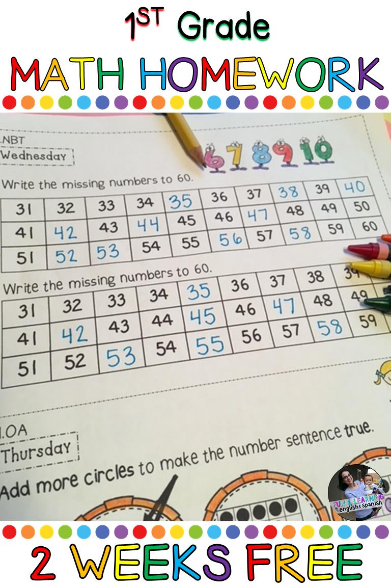 Free 1st Grade Math Homework 1st Grade Math Math Homework Math [ 1152 x 768 Pixel ]