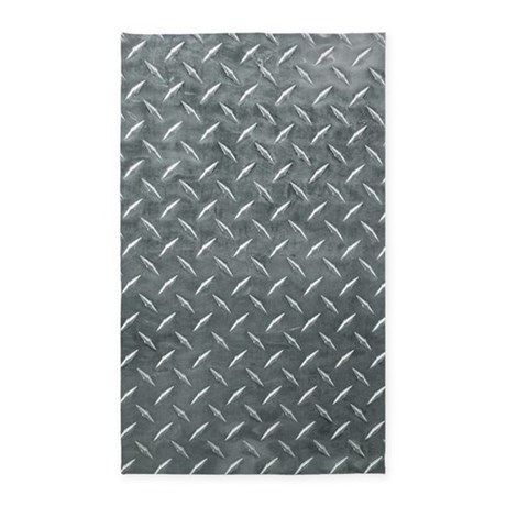 Gray Diamond Plate Pattern 3 X5 Area Rug By Foxvox Cafepress Area Rug Decor Area Rug Design Diamond Plate
