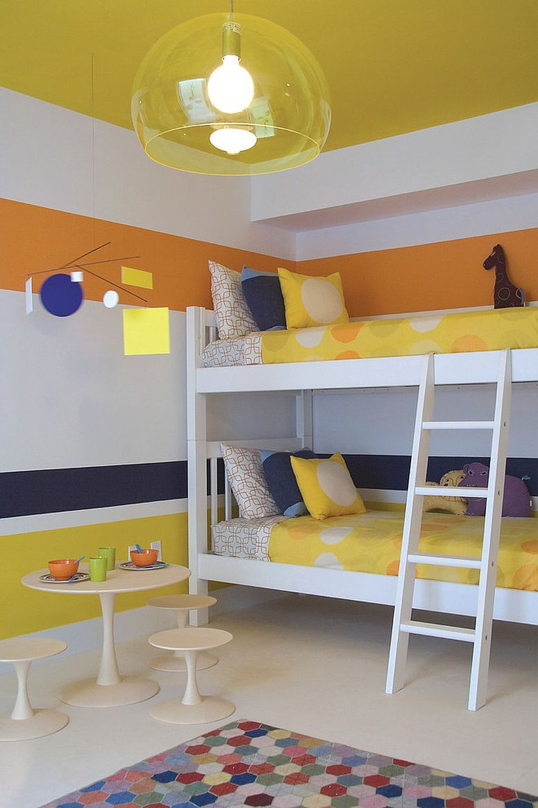 Trendy And Timeless 20 Kids Rooms In Yellow And Blue Yellow Kids Rooms Modern Kids Bedroom Modern Kids Room