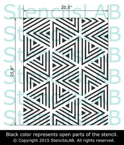 Modern Reusable Geometric Stencil For Wall Painting