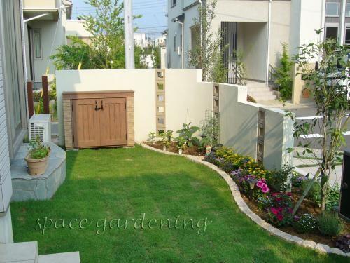 庭 外構施工例 詳細 庭 ガーデンプラン 庭 芝生