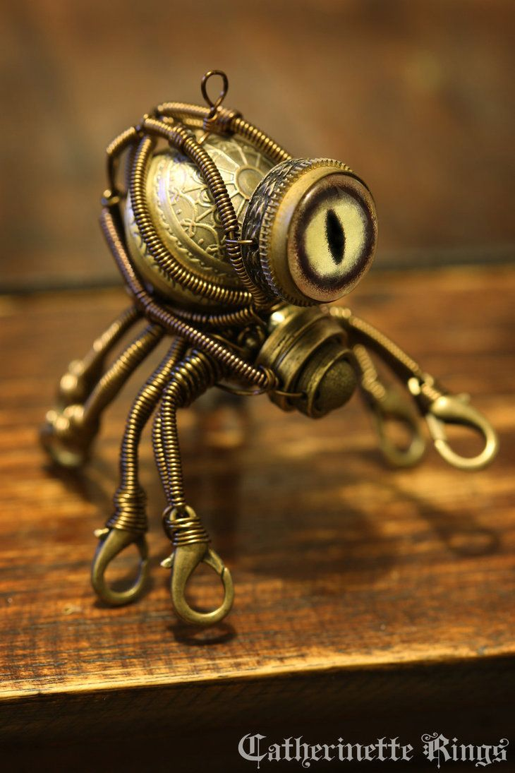 Steampunk Octopus Minion Robot by CatherinetteRings on DeviantArt