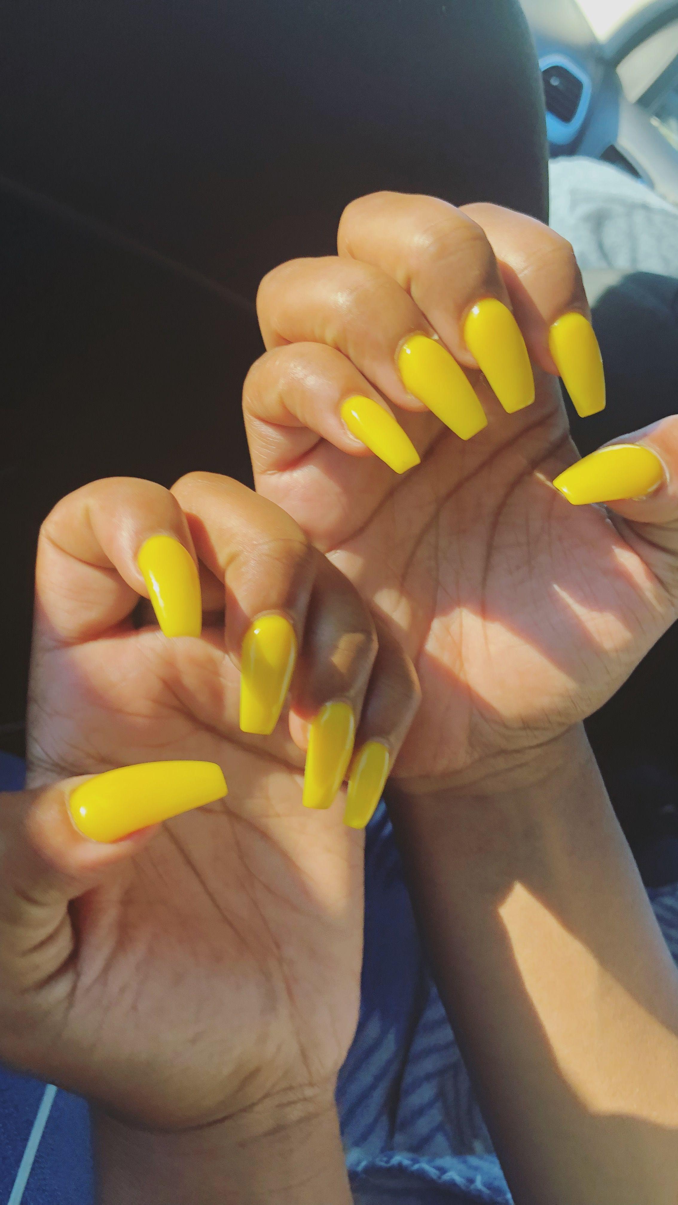 Pastel Yellow Acrylic Nails Awesome Nail