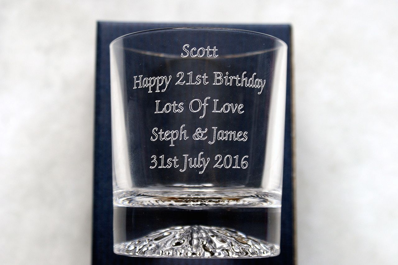 Weddings Personalised Hi Ball Glass Birthday Father/'s Day FREE ENGRAVING
