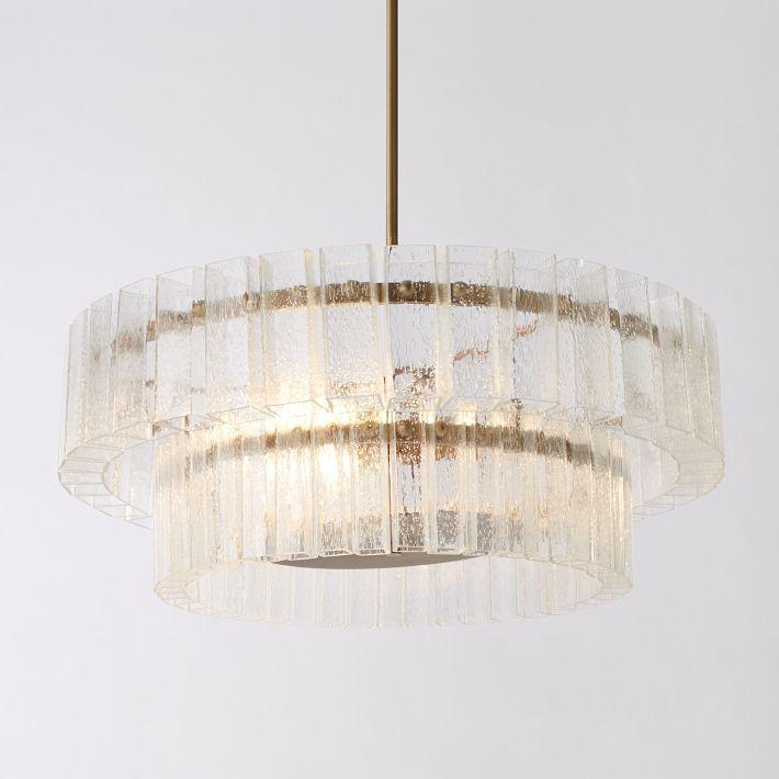 Atrium Chandelier | Frosted glass chandelier, Blown glass
