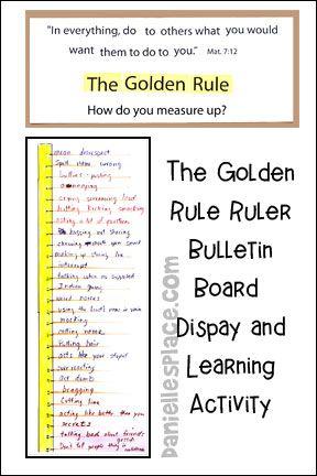 Golden Rule Bulletin Board Display