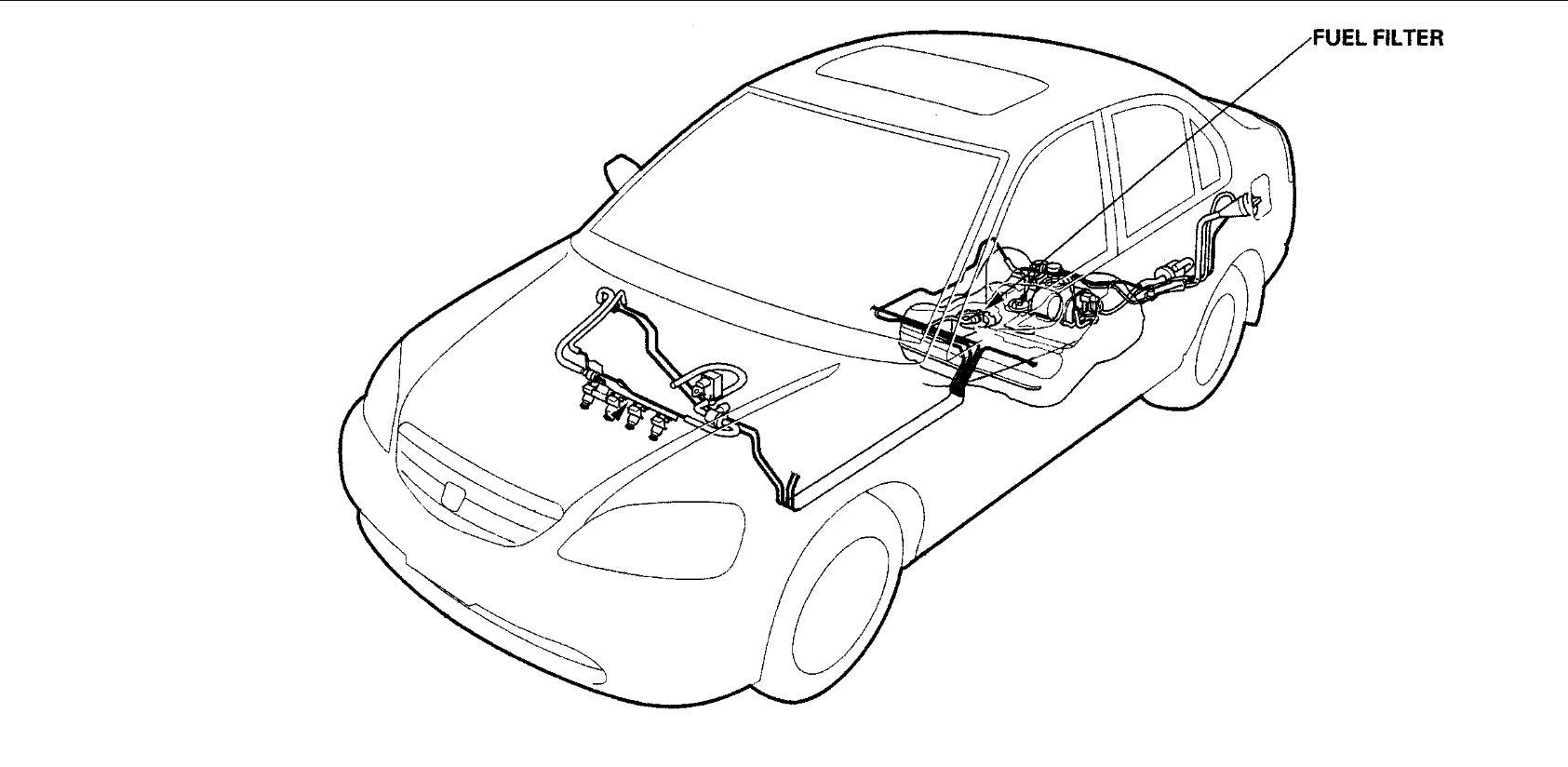 Honda Civic Fuel Filter Location