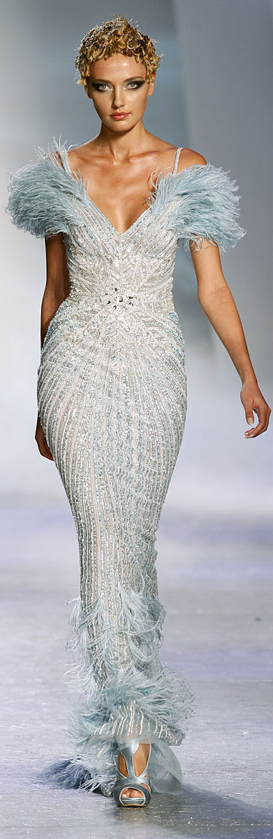 "✪ Zuhair Murad - Couture - ""Winter rhapsody"", F/W 2009-2010 ✪ http://en.flip-zone.com/fashion/couture-1/fashion-houses/zuhair-murad-1017"