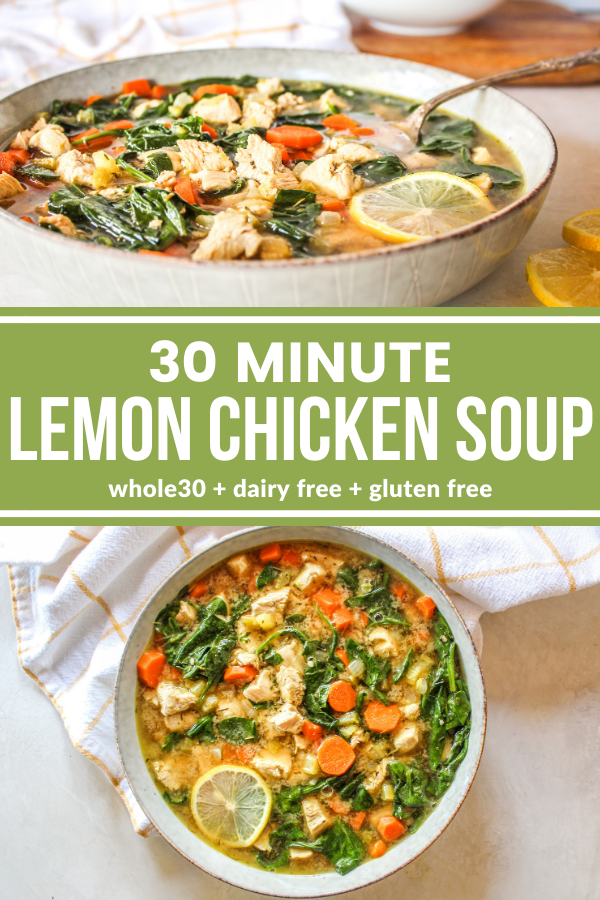 30 Minute Lemon Chicken Soup