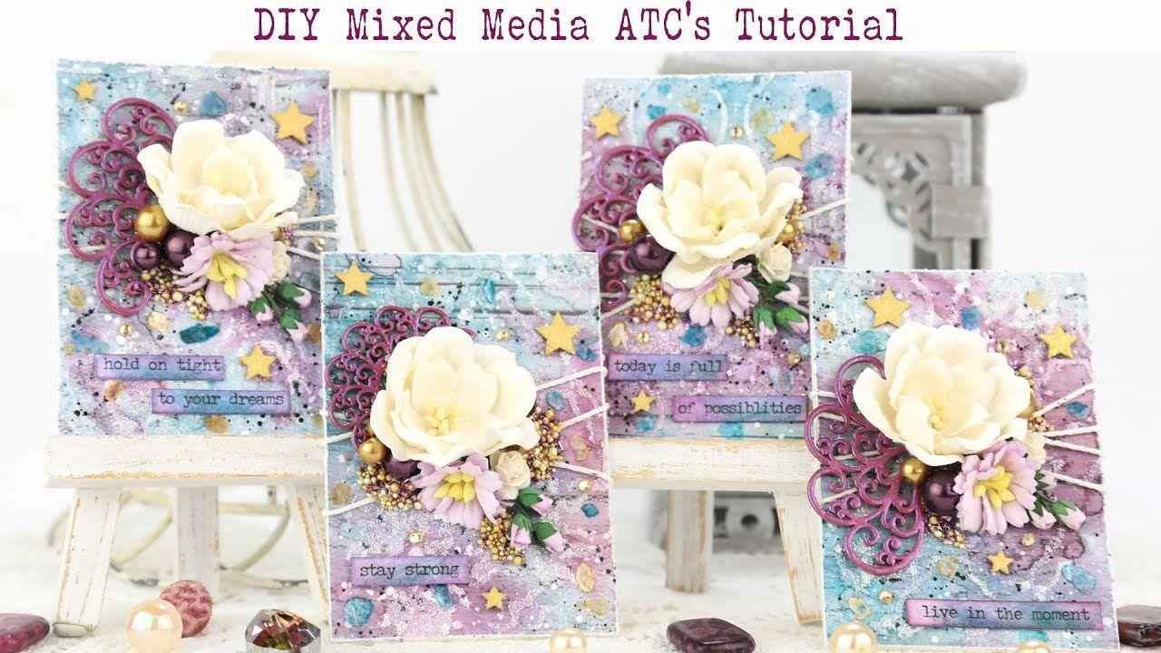 Diy mixed media artist trading cards for scrap craft