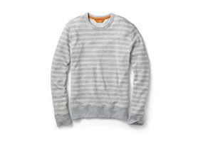Men Tops Weather Striped Crew