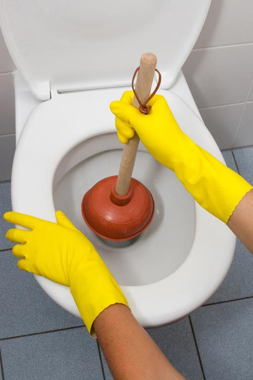 How to Plunge a Clogged Sink, Tub or Toilet | Drain clog, Toilet ...
