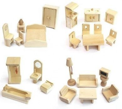 Freda   Wooden Dolls House Furniture Set   28 Pieces   Suitable For Freda Doll  House