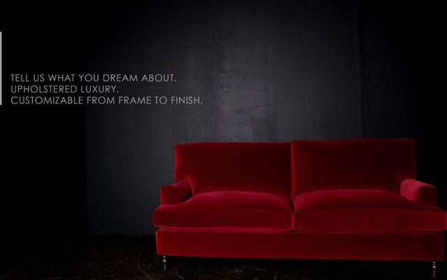 Luxe red velvet sectional sofa · 10. Dark Red Velvet Sofa | Best Collections of Sofas and ...