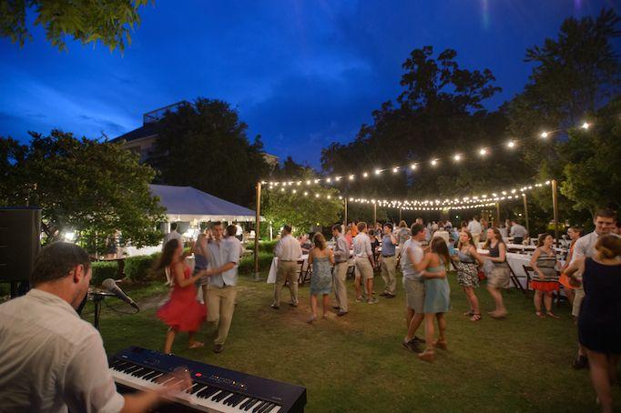 Cafe String Lighting Greystone Mansion, Auburn, AL Mary