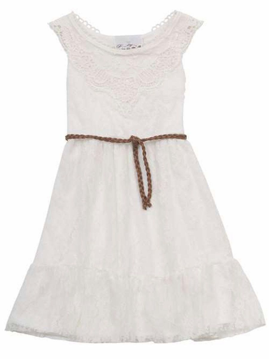 74c4da421 Rare Editions Ivory Lace Dress w/ Lace Crochet   Sewing   Dresses ...