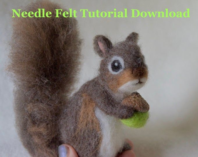 Tutorial Needle Felt Bunny Rabbit, Instant Download PDF, 12 Detailed Pages, 64 Photos #needlefeltedbunny