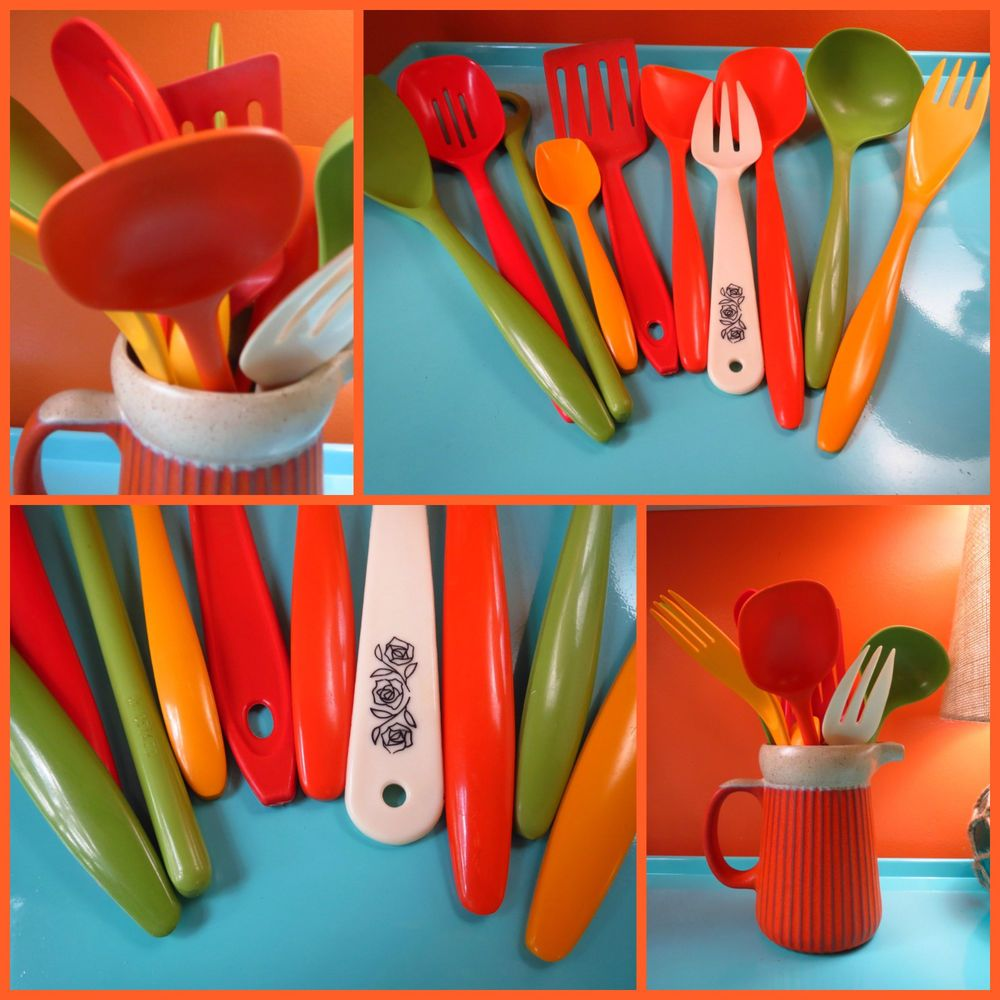 Vintage Hutzler Rosti Mepal Utensil Set Mid Century Modern Cooking Utensils