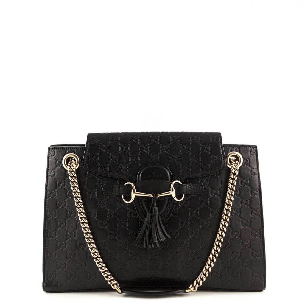 Gucci Black Guccissima Emily Tote - LOVE that BAG - Preowned Authentic  Designer Handbags -  1250 4ebb16f4600d4