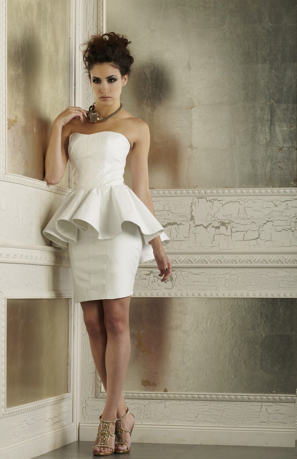Short Peplum Wedding Dress | ... in Brooklyn, NY and also makes ...