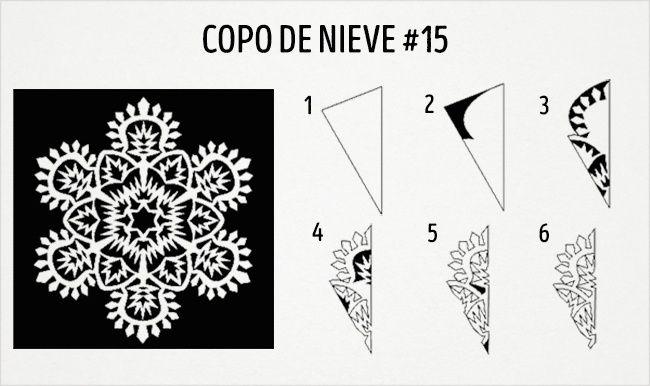 20 Esquemas para hacer extraordinarios copos de nieve de papel ...