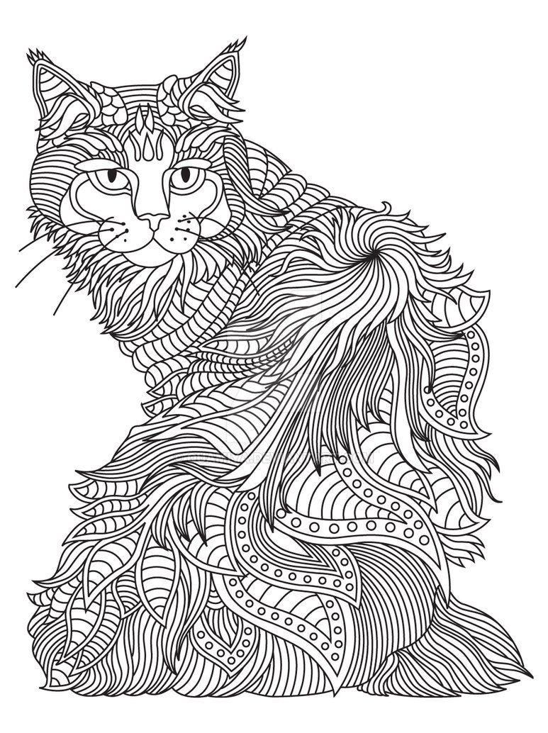 Gst Kolorowanka Koty I Psy 03 Podgd Por Quamiya Dog Coloring Page Cat Coloring Page Animal Doodles