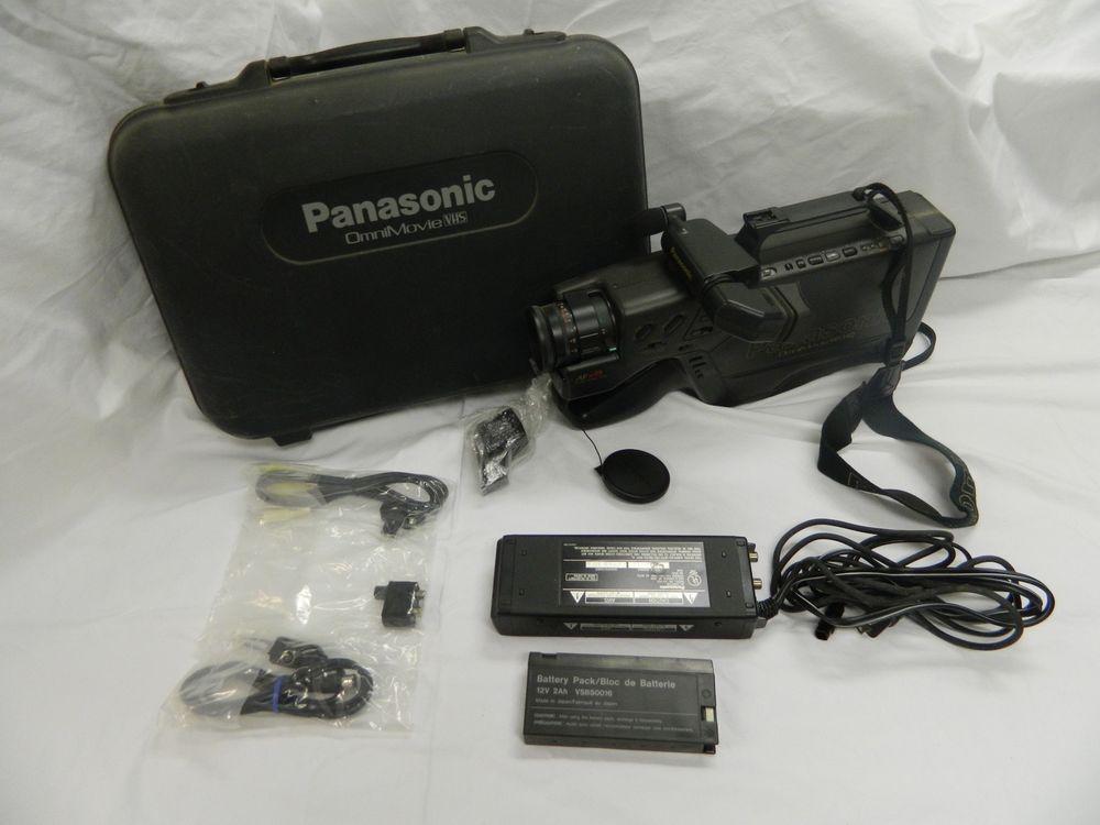 Panasonic Omni Movie Af X8 Vhs Camcorder Bundle Hard Case Panasonic Vhs Panasonic Camcorder
