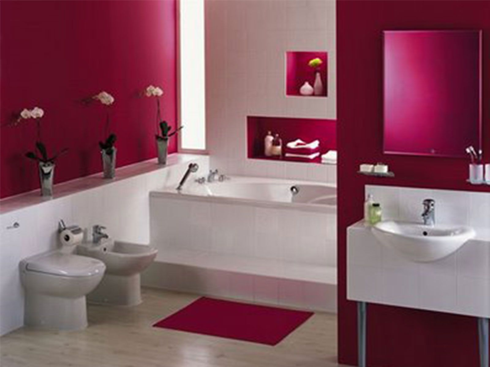 bathroom-cute-bathroom-decorating-pink-and-white-porcelain-wall-tile ...