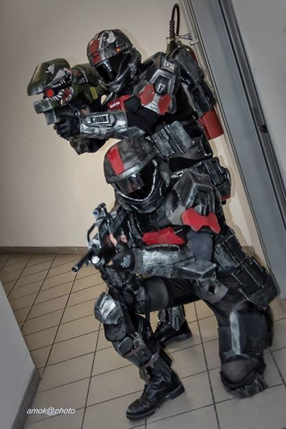 Halo Odst Costumes & Helmet With Mirrored Visor Halo ODST