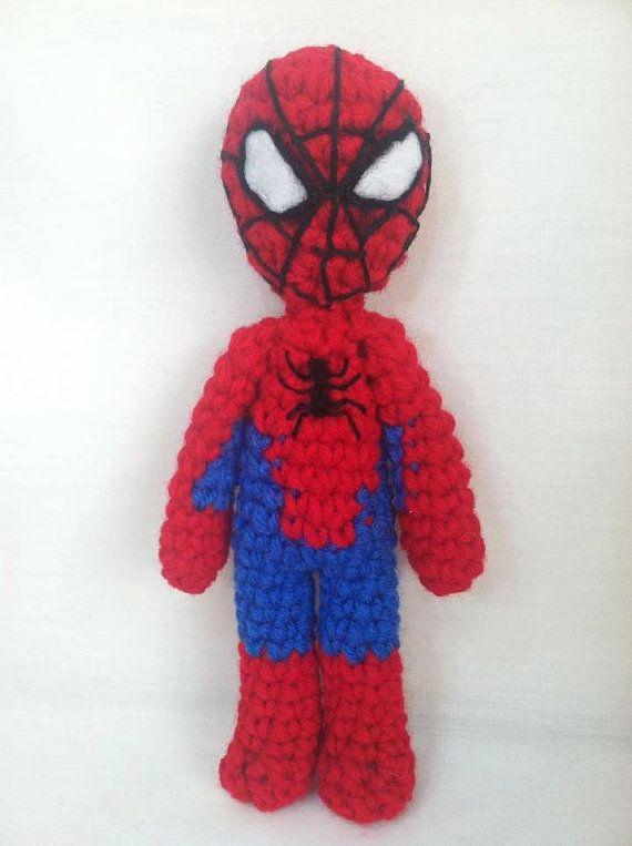 Crochet Spiderman Doll. Spiderman figure. Amigurumi | Pinterest ...