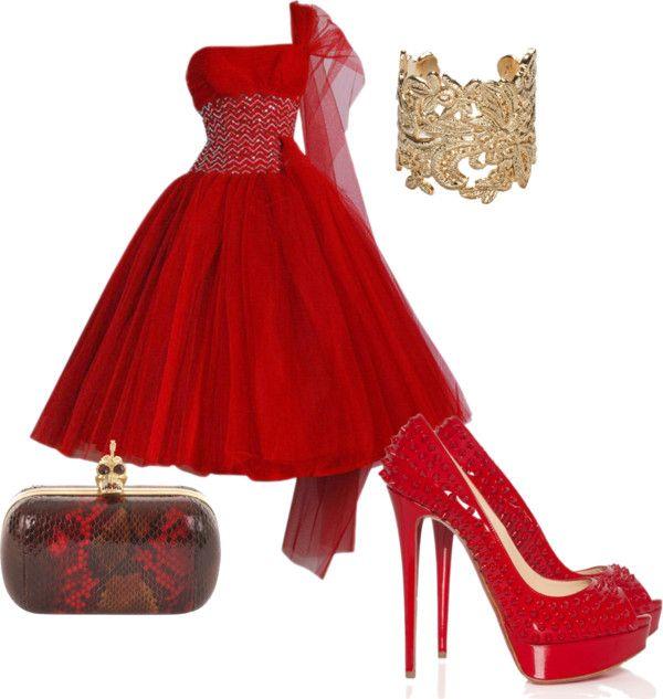 """""""Lady in Red"""" by los-mundos-de-caroline-los-mundos-de-caroline on Polyvore"""