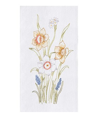 This Daffodils Kitchen Towel - Set of 2 is perfect! #zulilyfinds