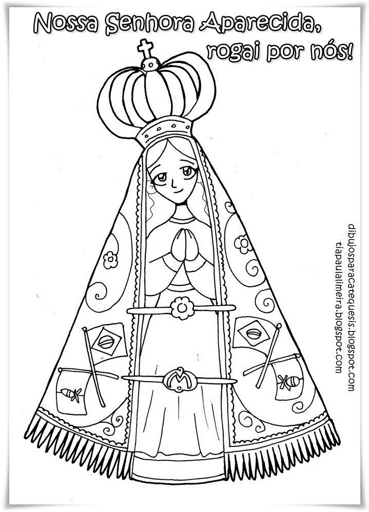 Colorir Nossa Senhora Aparecida