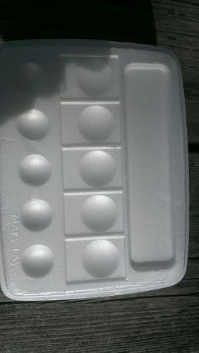 Palettes- for paint or make-up Styrofoam.. 5 or 6    $7 free shipping
