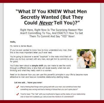 what men secretly want james bauer