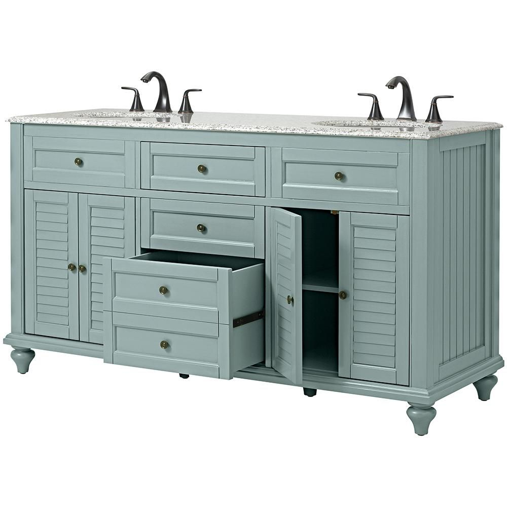 Home Decorators Collection Hamilton Shutter 61 in. W x 22 in. D ...