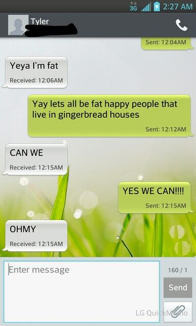 My bf and i, our conversations xD